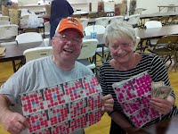 Recent coverall game winners, Bert & Pat Shufelt.  Yes, they BOTH won and split the $500 prize!